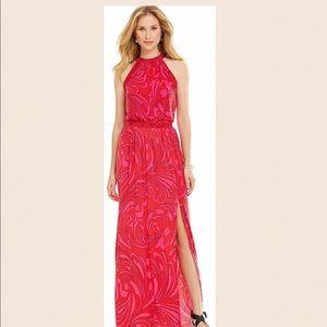 NWOT MICHAEL KORS Paisley Halter Maxi Dress